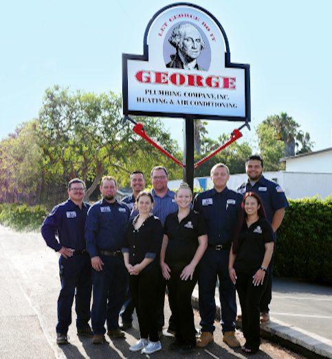 george plumbing heating and air team photo.