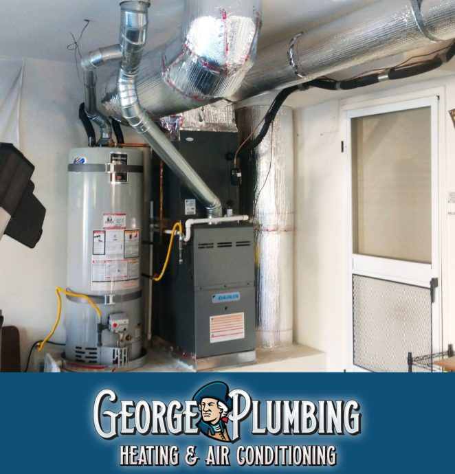 image contains a furnace and water heater
